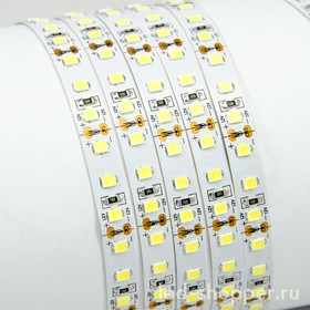 120Led-14.4W-IP23-12V белый, Лента светодиодная, 120SMD(2835)/m, 14.4Вт/м, 2000Лм/м (1м)