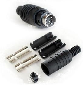 """KLS1-294-M-08-B, Разъем mini DIN 8 pin """"шт"""" пластик на кабель"""