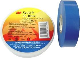 Scotch 35 19мм х 20м х 0,18мм (синяя), Изолента ПВХ высшего класса