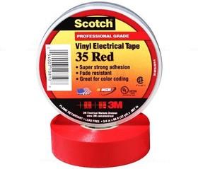 Scotch 35 19мм х 20м х 0,18мм (красная), Изолента ПВХ высшего класса
