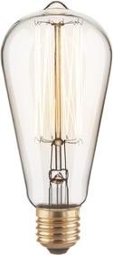 ST64 60W, Лампа Эдисона, 60Вт, E27, 145мм x 65 мм