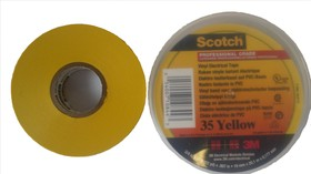 Scotch 35 19мм х 20м х 0.18мм (желтая), Изолента ПВХ высшего класса