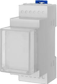 082 (D2MG), Корпус пластиковый 2 модуля 35.5х87.5х63мм (комплект: корпус, лицевая панель,дно, 2 защелки)
