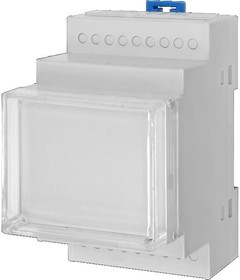 141 (D3MG), Корпус пластиковый 3 модуля 53х90х63мм(комплект: корпус,лицевая панель,дно, 2 защелки)