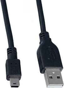 Кабель USB 2.0 A вилка  --  Mini USB 5P вилка, 1.5 м. (PL1308)