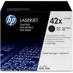 Двойная упаковка картриджей HP 55X черный [ce255xd]