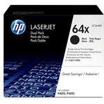 Двойная упаковка картриджей HP 64X CC364XD, черный