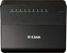 DIR-815/A/C1A, 802.11a/b/g/n DualBand(2.4&5.0 concurrent) Wireless Gigabit Router, with 4-ports 10/100 Base-TX swit