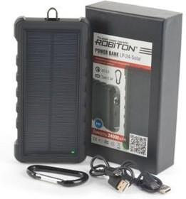 Фото 1/2 ROBITON POWER BANK LP-24-Solar Type-C 24000мАч, Универсальный внешний аккумулятор
