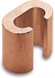 C70-C70 С образный зажим с полированной поверхностью, сечение проводников 70-50 -- 70-35 мм²