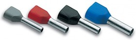 PKT1508 Изолированный втулочный наконечник для двух проводников сечением 2*1,5 мм², длина втулки 8 мм, черный