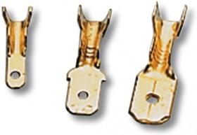 """BN-MA608 Соединители """"папа"""" с открытым хвостиком из медной полосы, сечение жилы 1-2,5 мм², контакт 6,3*0,8 мм"""