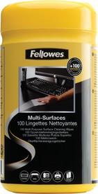 FS-99715, Салфетки для любых поверхностей Fellowes®, дерматологически безопасные, 100 шт. в тубе, UK