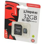 KINGSTON CANVAS Select microSD 32GB (Class 10) UHS-I с ...
