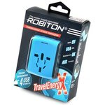 ROBITON TravelEnergy-X 4 USB-разъема BL1, Переходник сетевой