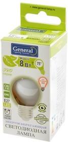 Фото 1/2 General ЭКО GLDEN-G45S-M- 8-230-E27-4500 Филамент 4.3Вт E27 4500K BL1, Лампа светодиодная
