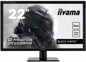 GE2288HS-B1, Монитор LCD 21,5'' [16:9] 1920х1080 TN, nonGLARE, 250cd/m2, H170°/V160°, 12М:1, 1ms, VGA, DVI, HDMI,