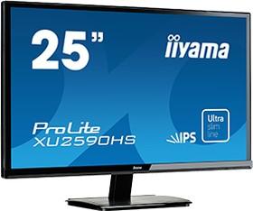 XU2590HS-B1, Монитор LCD 25'' [16:9] 1920х1080 IPS, nonGLARE, 250cd/m2, H178°/V178°, 1000:1, 5М:1, 5ms, VGA, DVI,