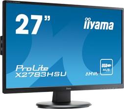 X2783HSU-B1, Монитор LCD 27'' [16:9] 1920х1080 MVA, nonGLARE, nonTOUCH, 300cd/m2, H178°/V178°, 3000:1, 12М:1, 16,
