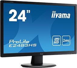 E2483HS-B1, Монитор LCD 24'' [16:9] 1920х1080 TN, nonGLARE, 250cd/m2, H178°/V178°, 1000:1, 5М:1, 16,7M Color, 1m