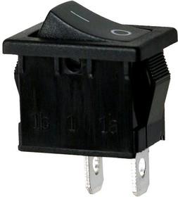 Фото 1/2 R19A-12BBBT-G, выключатель ON-OFF 250В 6А черн. (аналог B100G-B SWR41)