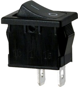 Фото 1/2 R19A-12BBBT-G выключатель ON-OFF 250В 6А черн. (B100G-B,SWR41)