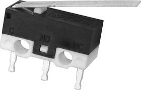 DM3-03P (KW10-Z2P150-7260), Микропереключатель с планкой 15мм, 3А 125VAC