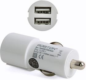 Фото 1/3 TwinUSB2400/AUTO, Блок питания автомобильный (12-24В) с двумя USB разъёмами, 2.4А (адаптер)