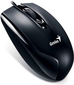 31010229100, Мышь DX-100X, USB, G5, чёрная (black, optical 1000dpi, подходит под обе руки)