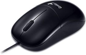 31010236100, Мышь DX-135, USB, G5, чёрная (black, optical 1000dpi, подходит под обе руки)