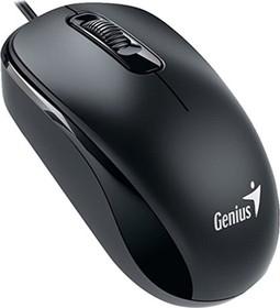 31010237100, Мышь DX-160, USB, чёрная (black, optical 1000dpi, подходит под обе руки)
