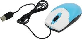 31010232102, Мышь NetScroll 100 V2, USB, голубой/белый (blue, optical 1000dpi, подходит под обе руки)