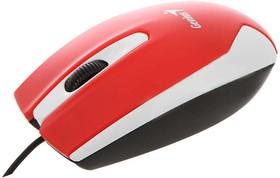 31010229101, Мышь DX-100X, USB, G5, красная/белая (red, optical 1000dpi, подходит под обе руки)