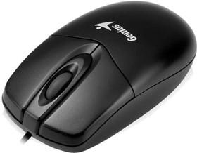 31010234100, Мышь DX-165, USB, чёрная (black, optical 1000dpi, подходит под обе руки)