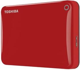 "HDTC805ER3AA, Внешний жесткий диск Toshiba Canvio Connect II 500GB Red 2.5"" USB 3.0"