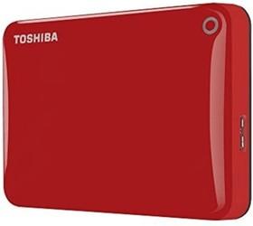 "HDTC820ER3CA, Внешний жесткий диск Toshiba Canvio Connect II 2TB Red 2.5"" USB 3.0"