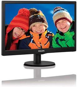 223V5LSB (00/01), Монитор LCD 21,5'' [16:9] 1920х1080 TN, nonGLARE, nonTOUCH, 250cd/m2, H170°/V160°, 10М:1, 16,7M Colo