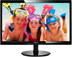 246V5LSB (00/01), Монитор LCD 24'' 16:9 1920х1080 TN, nonGLARE, 250cd/m2, H170°/V160°, 20М:1, 16,7M Color, 5ms, VGA, D