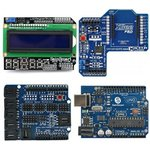 Arduino UNO+LCD Keypad Shield+XBee Shield+Sensor Shield V4 kit, (20-011-C15)