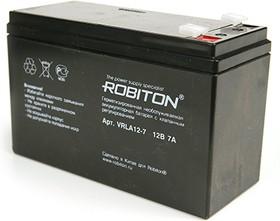 VRLA12-7, Аккумулятор свинцовый 12В-7 Ач, 151х65х95мм