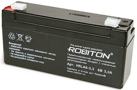 VRLA6-3.3, Аккумулятор свинцовый 6B-3.3Ач 134x35x61мм