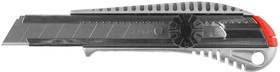"""Фото 1/2 09172, Нож ЗУБР """"МАСТЕР"""" металлический корпус, механический фиксатор, 18мм"""