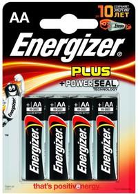 LR06 (A316/AA)4, Элемент питания алкалиновый Energizer Plus (4шт) 1.5В
