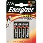 LR03 (А286/AAA)4, Элемент питания алкалиновый Energizer Plus (4шт)1.5В