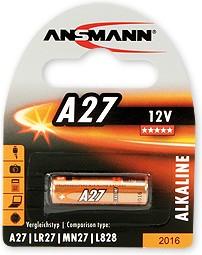 A27 (LR27,MN27,L828), Элемент питания алкалиновый (1шт) 12В