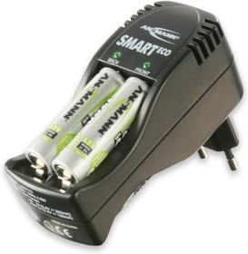Фото 1/2 Ansmann SmartECO Set, Устройство зарядное для 2-4 АА/ААА Ni-MH/Ni-Cd + 4*AA 800 mAh
