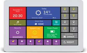 """Фото 1/4 MIKROE-2292, mikromedia HMI 7"""" UXW, Встраиваемая HMI панель 800 x 480 px на базе МК FT900Q, емкостная сенсорная панель"""