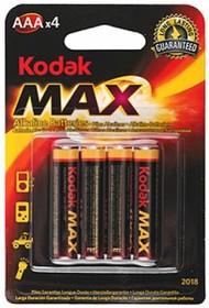 LR03 (А286/AAA)4, Элемент питания алкалиновый Kodak Max (4шт) 1.5В