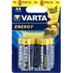 4106 (A316/LR6/AA)6, Элемент питания алкалиновый ENERGY ...