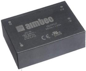 AME30-24SZB, AC/DC преобразователь, 24В,1.25А,30Вт